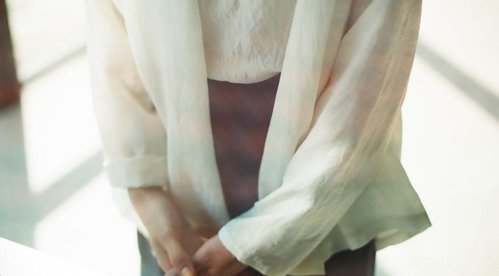 インド手織りシルク 羽織ブラウス
